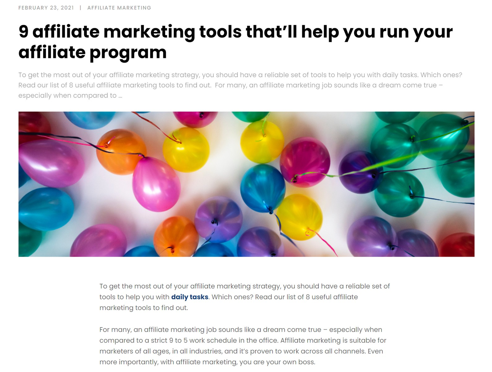 7 UX Best Practices for Designing your Blog Posts in 2021. 9 affiliate mark article