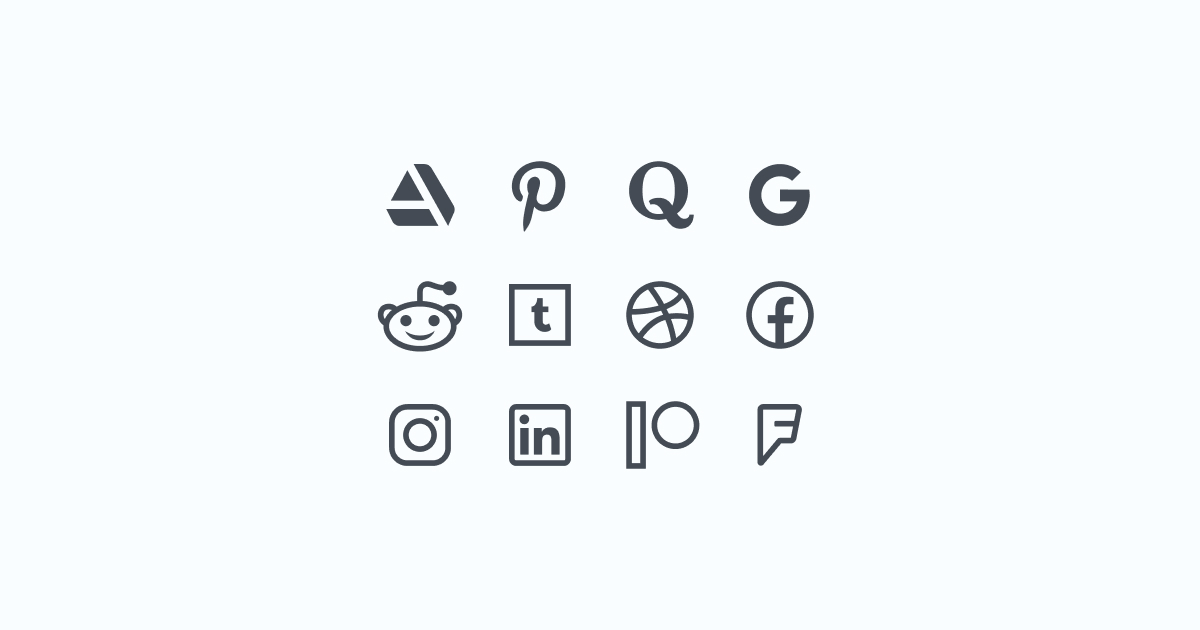 Like, Share, Repost: an ultimate bundle of eye-catching graphics for Social Media Day: icons set in Windows 10 style on light blue background