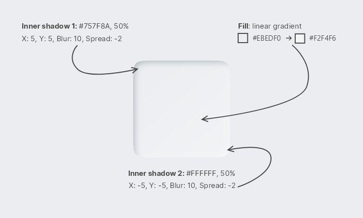 Lunacy tutorial: Neumorphism in UI design: Creating a pressed button