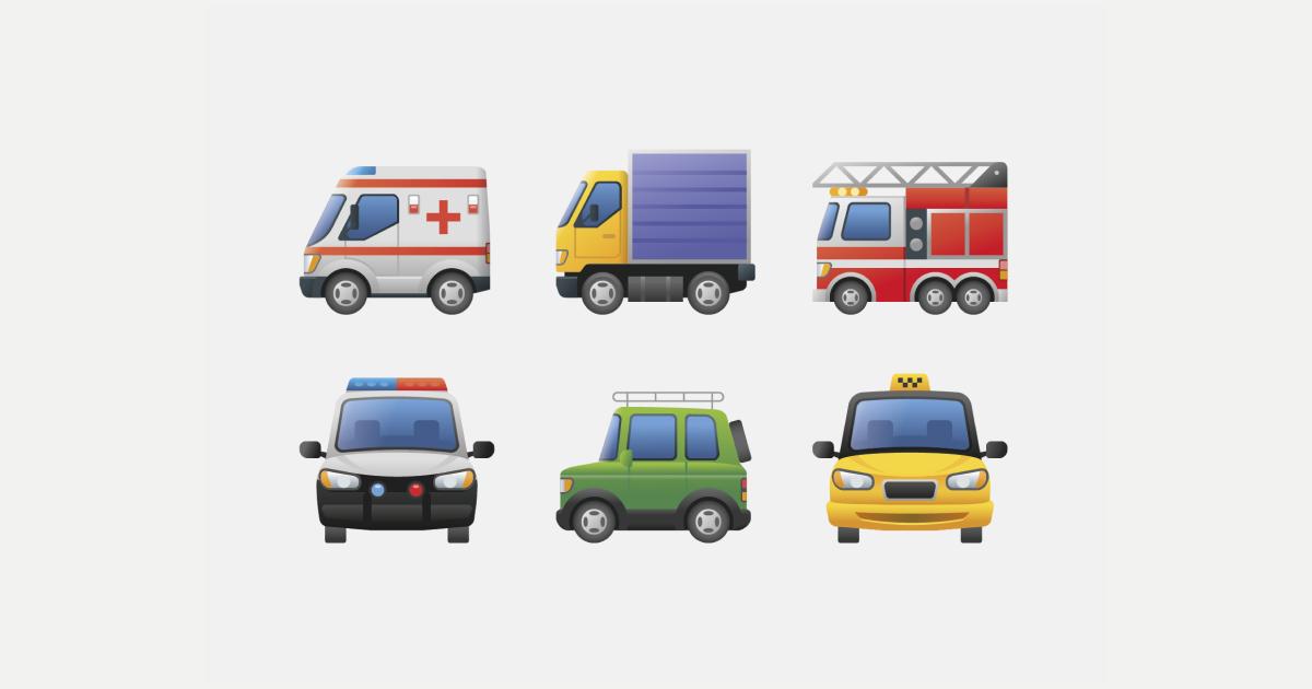 Sharing emotions: World Emoji Day graphic collection: Emoji set on light grey background