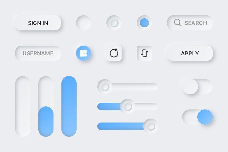 Lunacy tutorial: Neumorphism in UI design: Final strokes