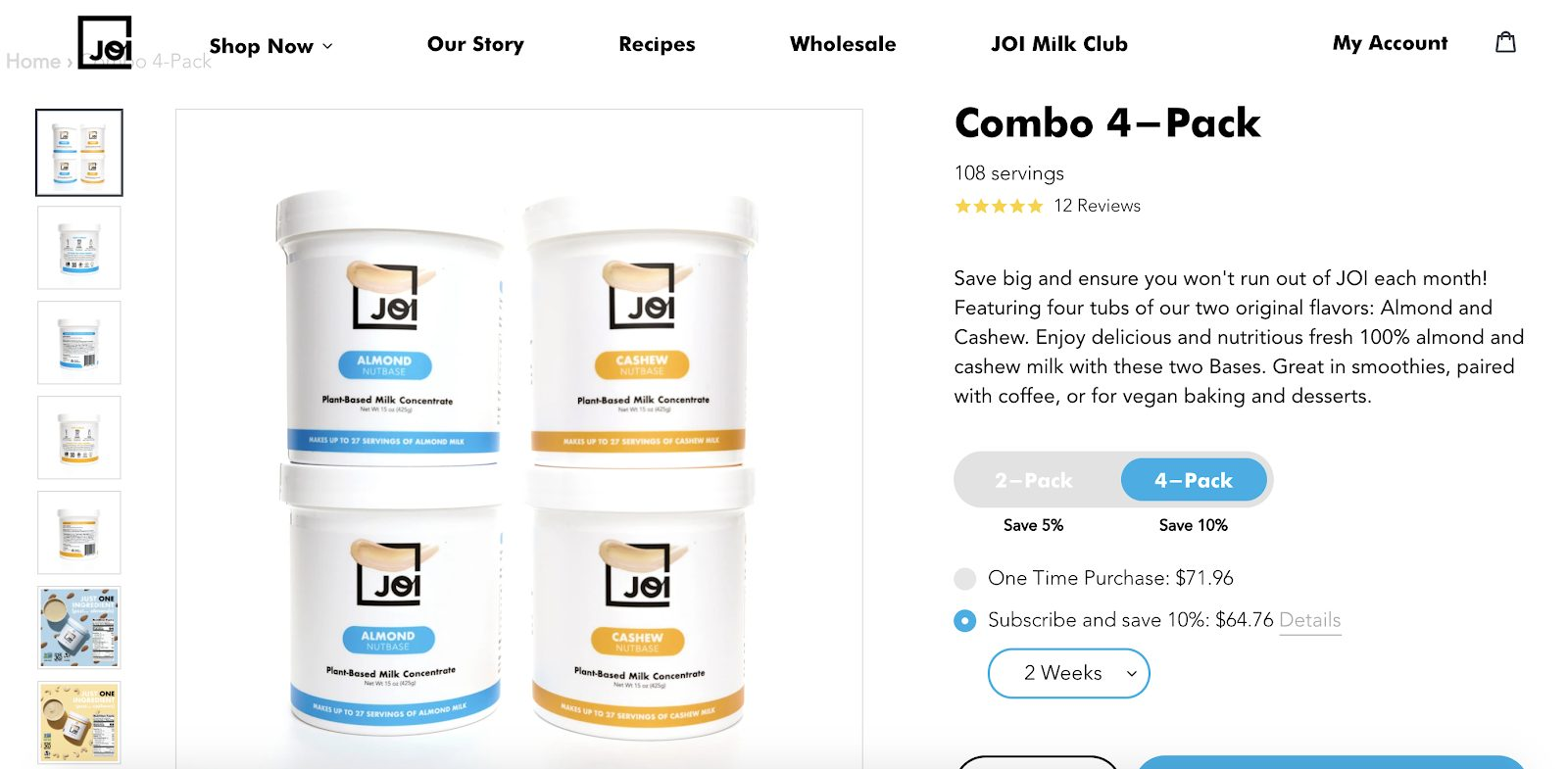 How to Design a Conversation-Optimized Online Shopping Website: Joi page