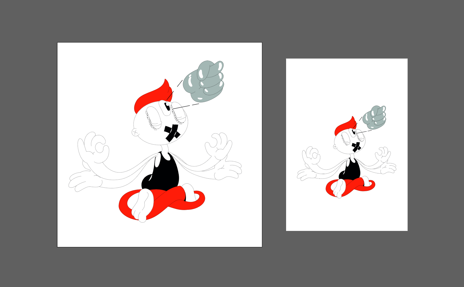 How to export an SVG illustration from After Effects: adjust the artboard size