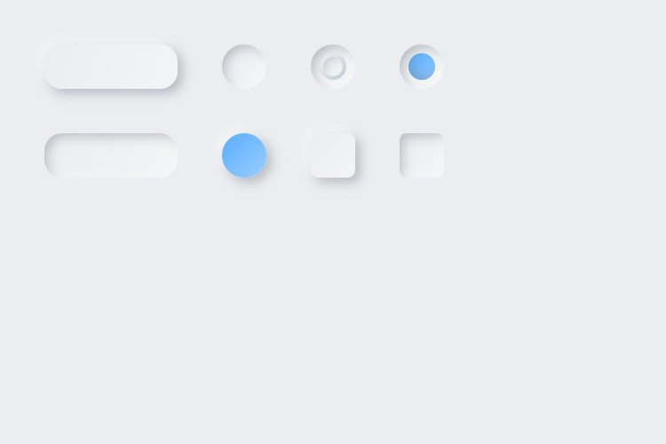 Lunacy tutorial: Neumorphism in UI design: Some more buttons and fields