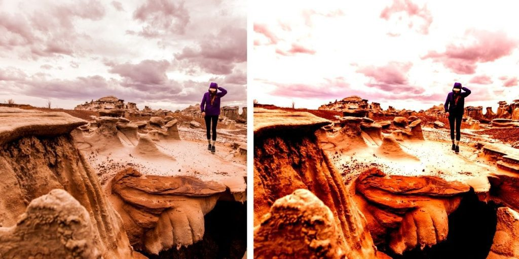 5 Color Correction Mistakes To Avoid in Photo Editing: normal and over contrast photo