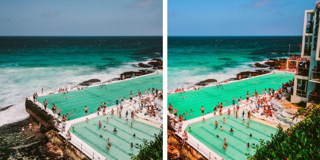 5 Color Correction Mistakes To Avoid in Photo Editing: normal and over saturation photo