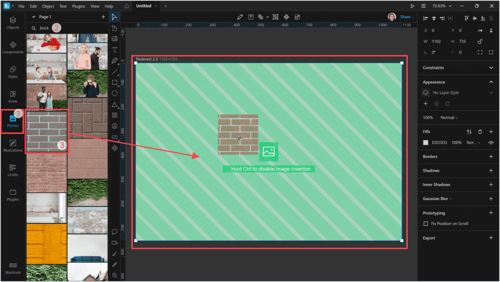 How to create a neon effect in Lunacy: Drag-and-drop the photo
