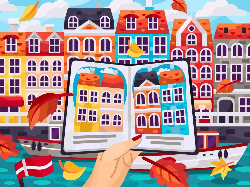 Beautiful autumn illustrations for UI, web, email, and inspiration: Autumn Copenhagen
