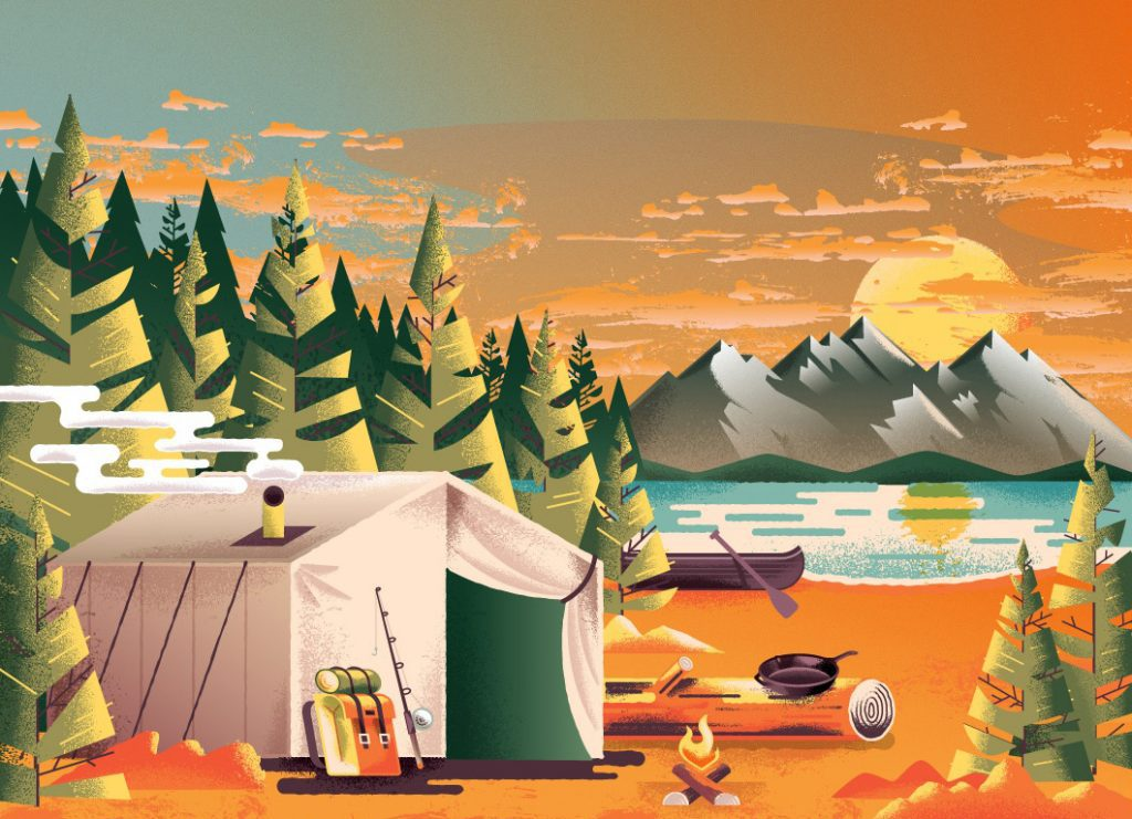 Beautiful autumn illustrations for UI, web, email, and inspiration: Autumn National Park