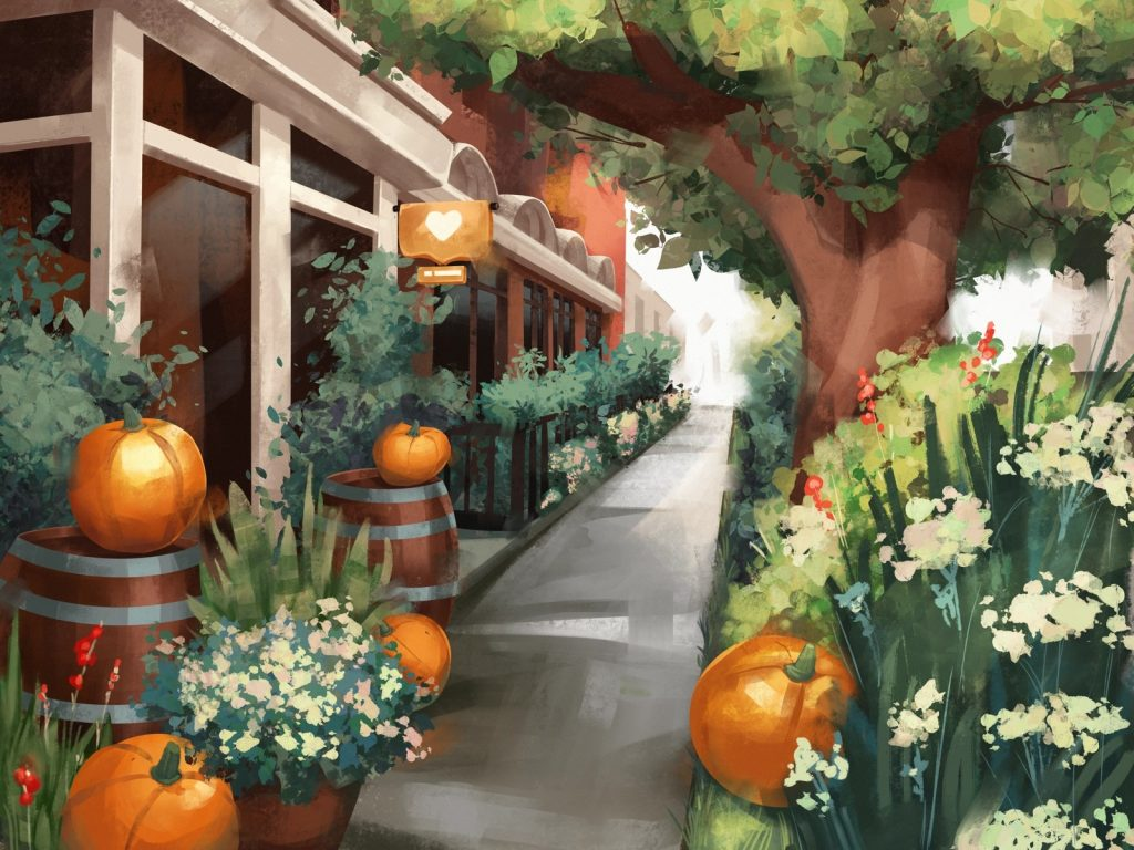 Beautiful autumn illustrations for UI, web, email, and inspiration: Cozy October Illustration