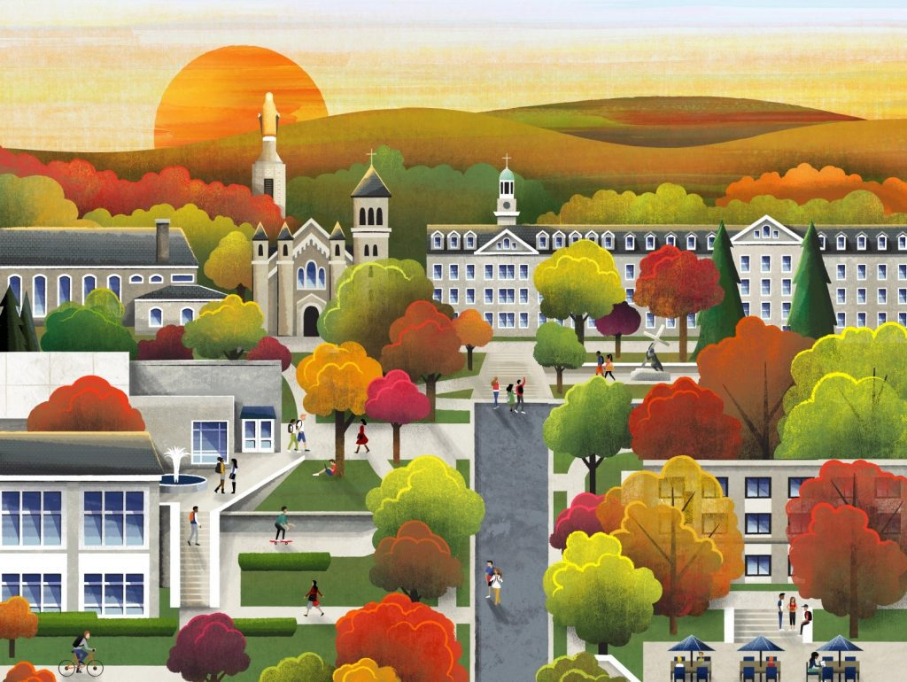 Beautiful autumn illustrations for UI, web, email, and inspiration: Fall Campus