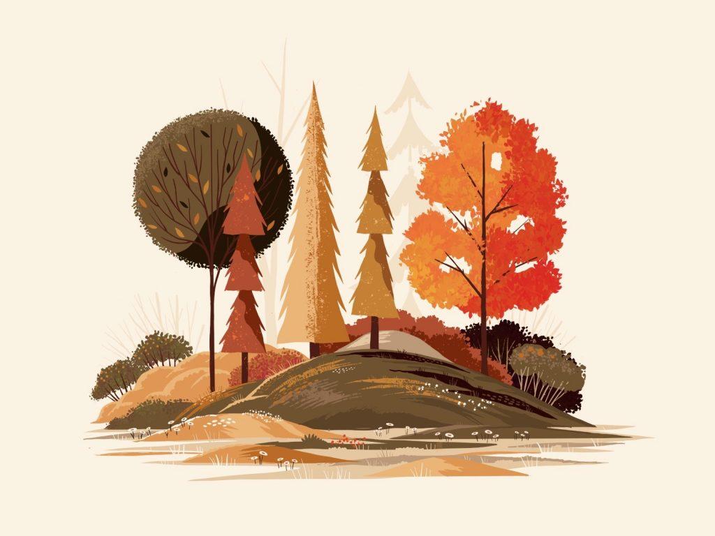 Beautiful autumn illustrations for UI, web, email, and inspiration: Fall Foliage