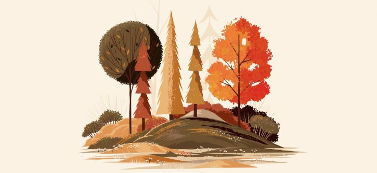 Beautiful autumn illustrations for UI, web, email, and inspiration