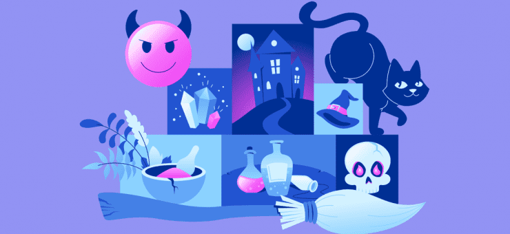 Spooky & cute: free Halloween illustrations and lettering